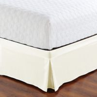De Moocci Easy Wrap Tailored Twin Bed Skirt in Cream