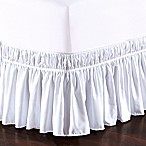 De Moocci Easy Wrap Ruffled Queen/King Bed Skirt in White