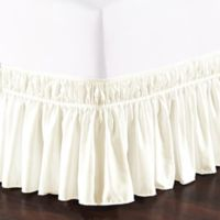 De Moocci Easy Wrap Ruffled Queen/King Bed Skirt in Cream