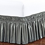 De Moocci Easy Wrap Ruffled Queen/King Bed Skirt in Grey
