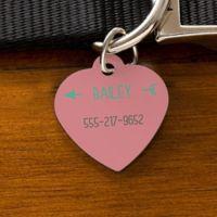 Modern Arrow Heart Dog ID Tag