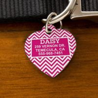 Chevron Heart Dog ID Tag