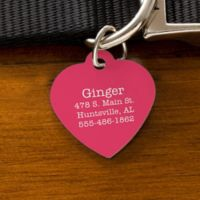 Expressions Heart Dog ID Tag