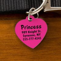 You-Name-It Heart Dog ID Tag