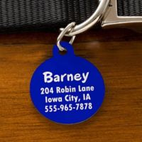 You-Name-It Circle Dog ID Tag