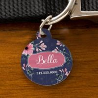 Floral Circle Dog ID Tag