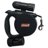 Coleman® 3-in-1 Retractable Leash with Flashlight in Black