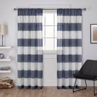 Darma 108-Inch Rod Pocket Window Curtain Panel Pair in Indigo
