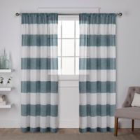 Darma 96-Inch Rod Pocket Window Curtain Panel Pair in Teal