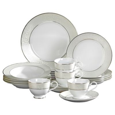Mikasa® Parchment 20-Piece Fine China Dinnerware Set  sc 1 st  Bed Bath u0026 Beyond & Buy Mikasa® 20-Piece White Dinnerware Set from Bed Bath u0026 Beyond