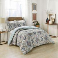 Marble Hill Ahana Reversible Queen Comforter Set in Teal