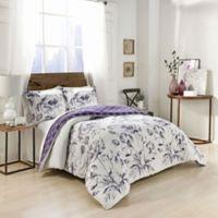 Marble Hill Jasmeen Reversible Queen Comforter Set in Purple
