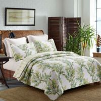 Palm Grove Reversible Full/Queen Quilt Set in Green