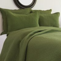 Manchester King Quilt Set in Fern