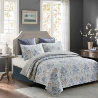 Madison Full/Queen Quilt Set in Blue/Grey