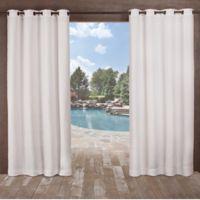 Delano Indoor/Outdoor 96-Inch Grommet Top Window Curtain Panel in White