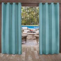 Delano Indoor/Outdoor 96-Inch Grommet Top Window Curtain Panel in Teal