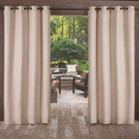Delano Indoor/Outdoor 96-Inch Grommet Top Window Curtain Panel in Taupe