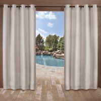 Delano Indoor/Outdoor 96-Inch Grommet Top Window Curtain Panel in Silver