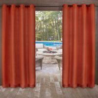 Delano Indoor/Outdoor 96-Inch Grommet Top Window Curtain Panel in Orange