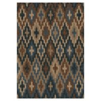 Orian Rugs Majestic Shag Lorcan 5'3 x 7'6 Area Rug in Blue
