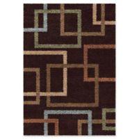 Orian Rugs Impressions Cuffing Shag 5'3 x 7'6 Area Rug in Mocha