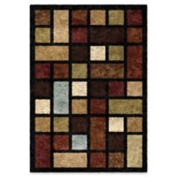 Orian Domino Blocks 5-Foot 3-Inch x 7-Foot 6-Inch Shag Area Rug in Multi