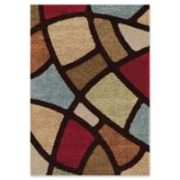 Orian Geometric Circle Bloom 5-Foot 3-Inch x 7-Foot 6-Inch Shag Area Rug in Multi