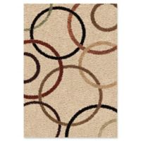 Orian Geometric Circle Bloom 8-Foot Shag Runner in Multi