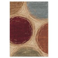 Orian Rugs Impressions Shag Sketching Circles 5'3 x 7'6 Multicolor Area Rug