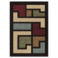 Orian Link 5'3 x 7'6 Area Rug in Black