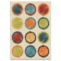 Orian Circle Sketch 3'10 x 5'2 Area Rug