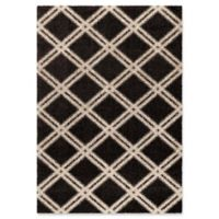 Orian Mugs Majestic Concentric Diamonds 5'3 x 7'6 Area Rug in Black