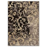 Orian Rugs Heritage Distressed Scroll Woven 5'3 x 7'6 Area Rug in Taupe