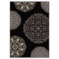 Orian Rugs Fernandez Woven 7'10 x 10'10 Area Rug in Black