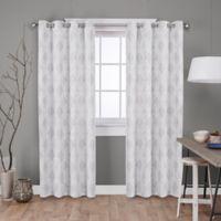 Dorado 108-Inch Grommet Top Window Curtain Panel Pair in Light Grey
