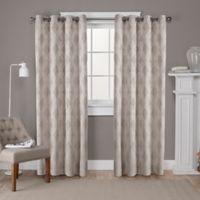 Dorado 108-Inch Grommet Top Window Curtain Panel Pair in Natural