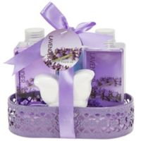 Freida & Joe Wire Basket Lavender Fragrance Bath & Body Set