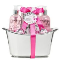 Freida & Joe Pink Orchid & Balsamic Strawberry Tub Spa Set in Large