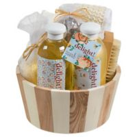 Freida & Joe Delight Wood Vintage Spa Gift Basket