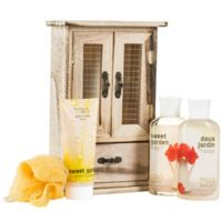 Freida & Joe Sweet Garden Wood Curio Spa Set