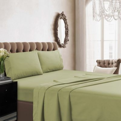 Ordinaire Tribeca Living Solid Color 350 Thread Count Percale Deep Pocket King Sheet  Set In
