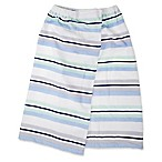 Self™ One Size Adult Cotton Stripe Wrap Sarong in Blue