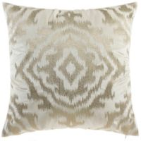 Cloud9 Design Ikat Metallic 22-Inch Square Throw Pillow in Ivory