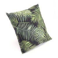 Zuo® Modern Tropical Square Throw Pillow in Green/Black