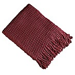 Brielle Winding Wave Throw Blanket in Rose
