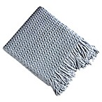 Brielle Winding Wave Throw Blanket in Light Blue