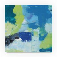 Trademark Fine Art Mountain Reflection II 24-Inch Square Canvas Wall Art