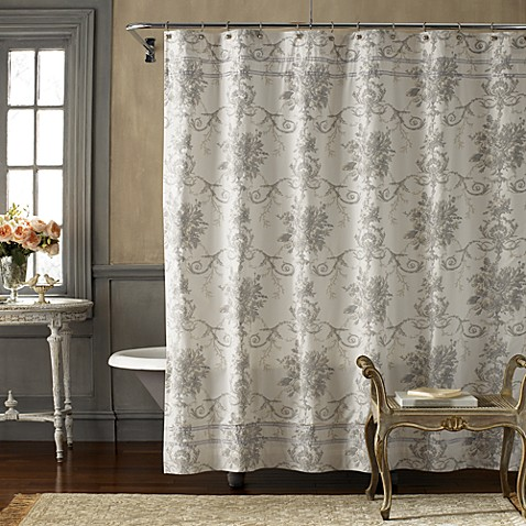 Vintage chic brompton 72 39 39 x 72 39 39 fabric shower curtain Vintage shower curtains