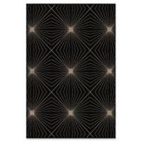 Orian Rugs Nuance Twilight Woven 7'10 x 10'10 Area Rug in Black